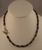 Delicate Garnets Necklace