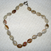 Tan Fossil Jasper Bead Necklace