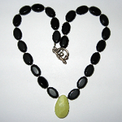 Onyx and Jade Necklace