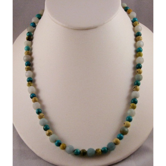 Yellow Flower Turquoise Necklace