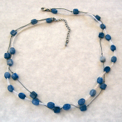 Blue kyanite double strand necklace