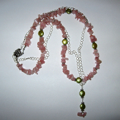 Pink Chips Necklace